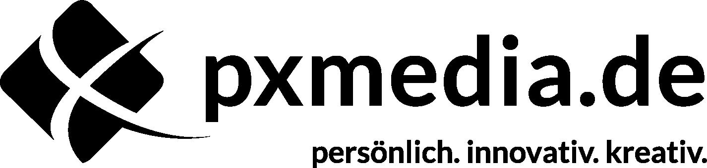 PxMedia Logo Schwarz